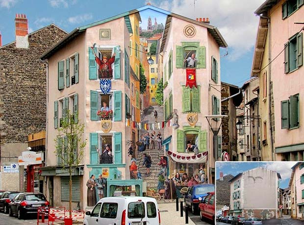 """Live"" facades by Patrick Commecy"