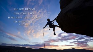 All our dreams can come true, if we have the courage to pursue them. (Walt Disney)