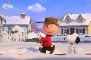 Snoopy and Charlie Brown in winter - wallpaper