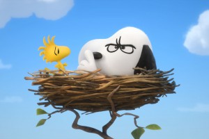 Snoopy in the nest wallpaper. The Peanuts Movie 2015