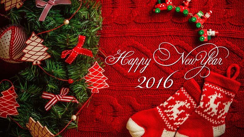New Year Tree 2016 hd wallpaper