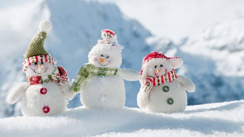 Three happy snowmen 2016