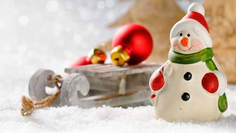 New Year cute snowman wallpaper 1920x1080