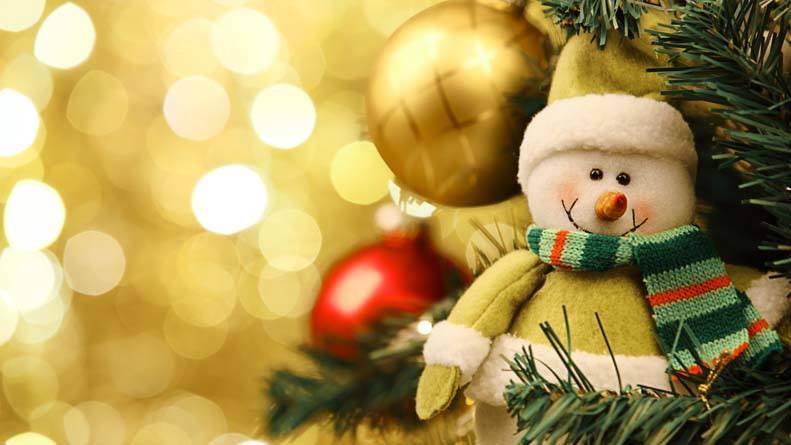 New Year snowman 2016 desktop wallpaper