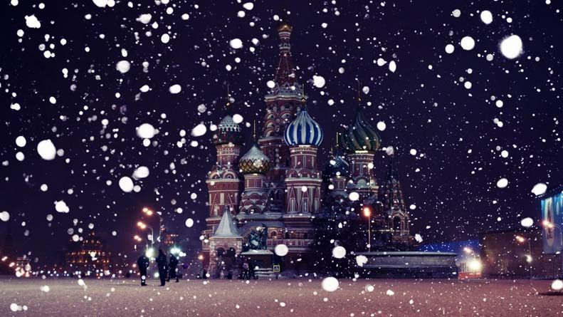 Winter Moscow, Russia