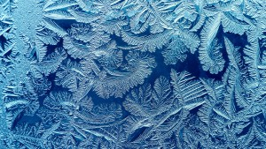 Winter pattern on window