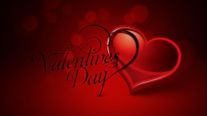 Happy Valentine's Day. Red Hearts