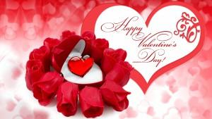 Happy Velentine's Day. Roses & heart