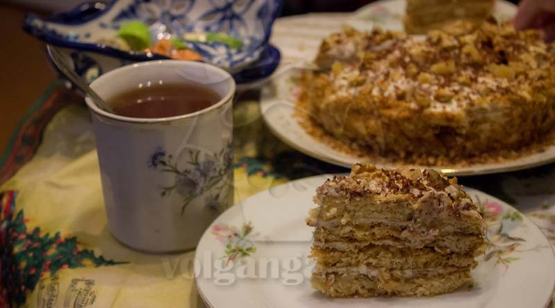 Delicious cake is perfect with tea