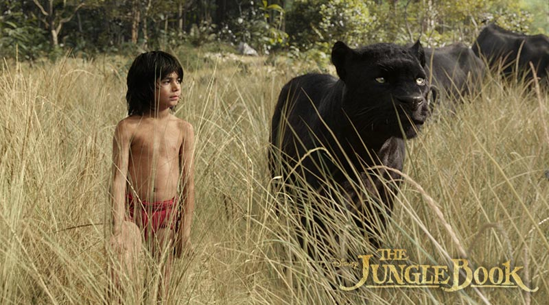 Bagheera and Mowgli. The Jungle Book, 2016