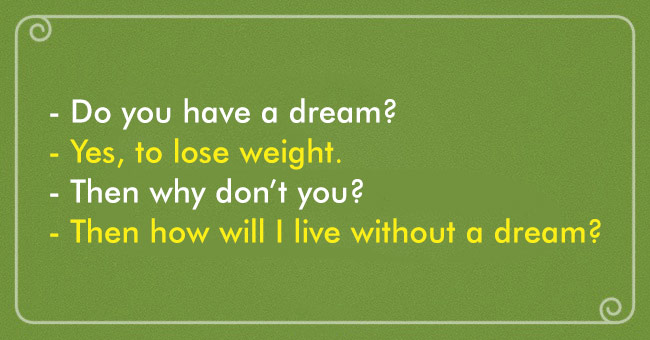 Dreaming to lose weight