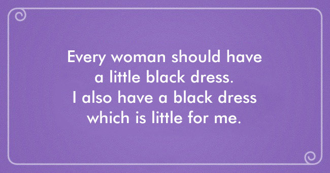 I have a little black dress