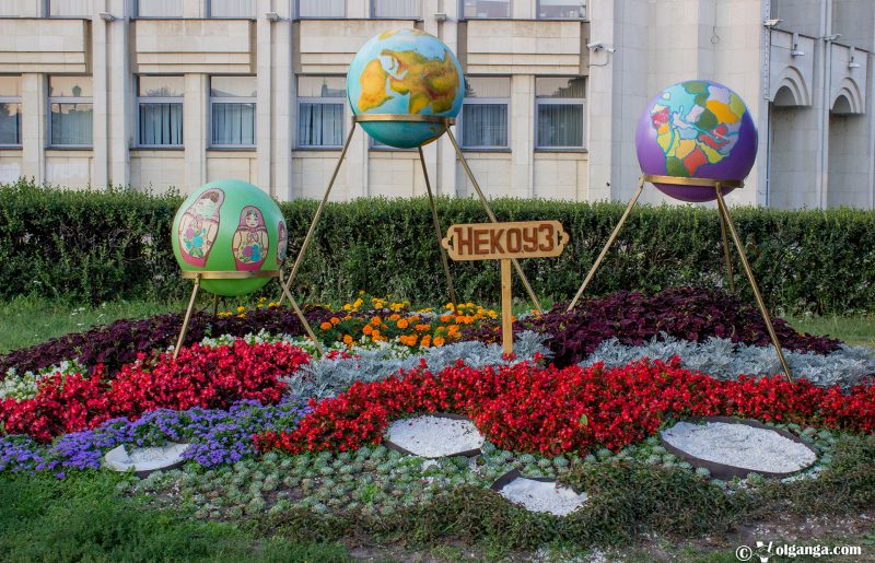 Flowerbed by Nekouz village, Yaroslavl, 2016