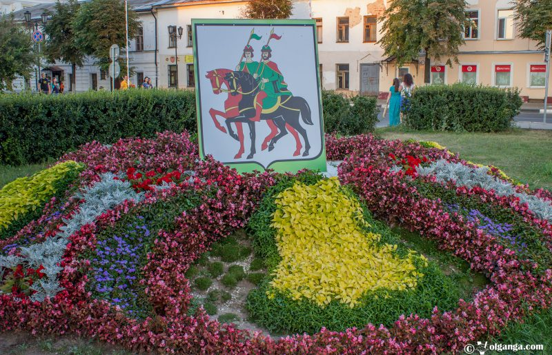 Flowerbed designed by Borisogled municipal district, Yaroslavl, Russia