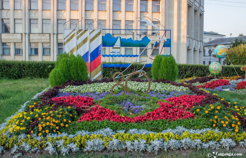 "Flowerbed dedicated to ""80th anniversary of Yaroslavl region"", 2016"