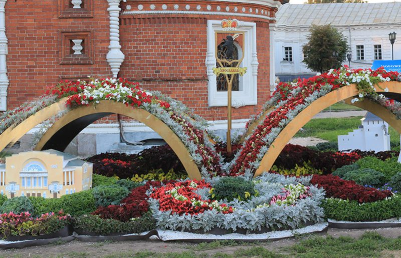 Flowerbed designed by Yaroslavl city, 2016