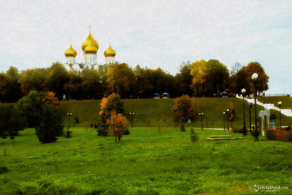 View on Ouspensky Cathedral from Strelka, Yarosvlavl 2016