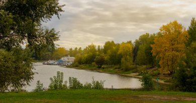 Kotorosl river near the bridge to Damansky isle, Yaroslavl 2016