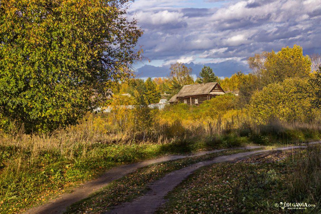 Russian village in autumn 2016