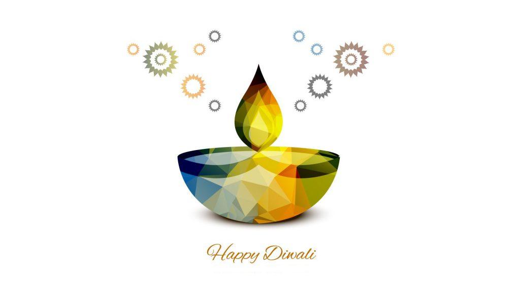 Diya light on Diwali 2016