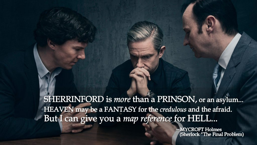 "Sherrinford... map reference of hell. (Mycroft Holmes, ""The Final Problem"")"