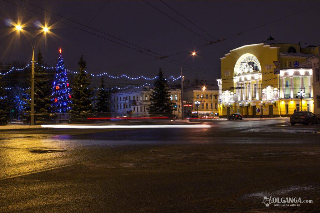 Volkov Drama theatre in Yaroslavl on New Year night 2017