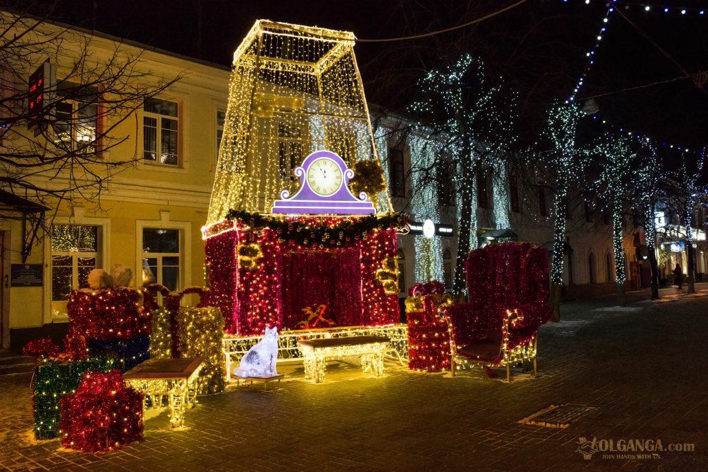 New Year 2017 decoration on Kirova street, Yaroslavl