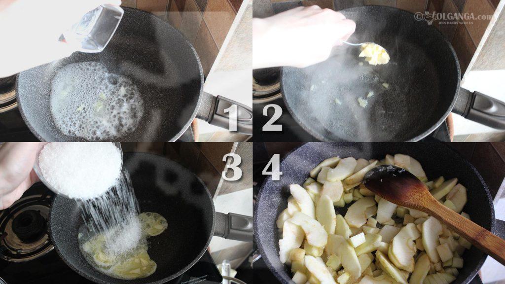 Stew apples