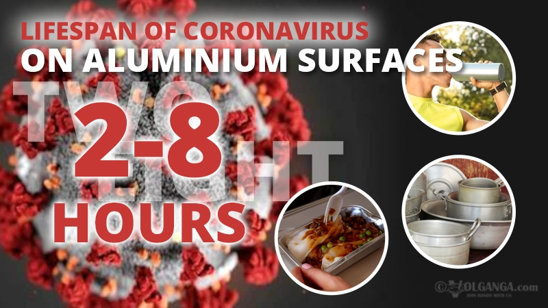 Persistence of coronavirus on aluminium