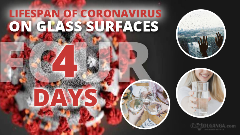 Lifespan of coronavirus on glass
