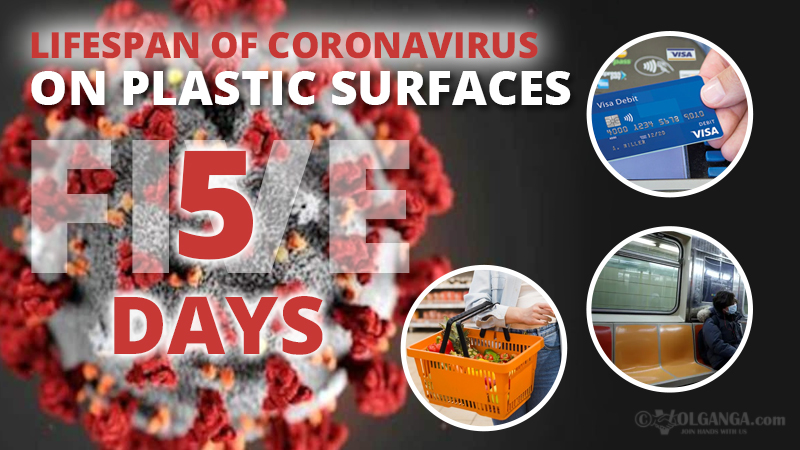 Persistence of coronavirus on plastic