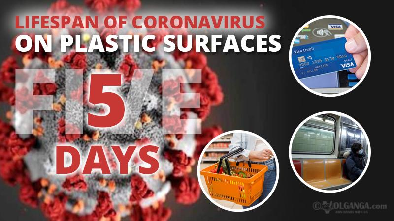 Persistence of coronavirus on plastic