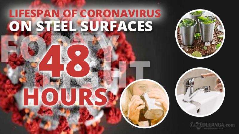 Persistence of coronavirus on steel