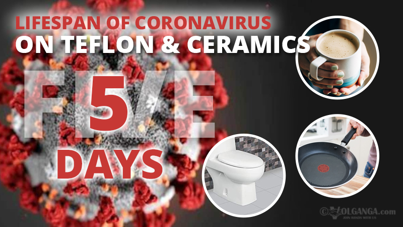 Lifespan of coronavirus on teflon and ceramics