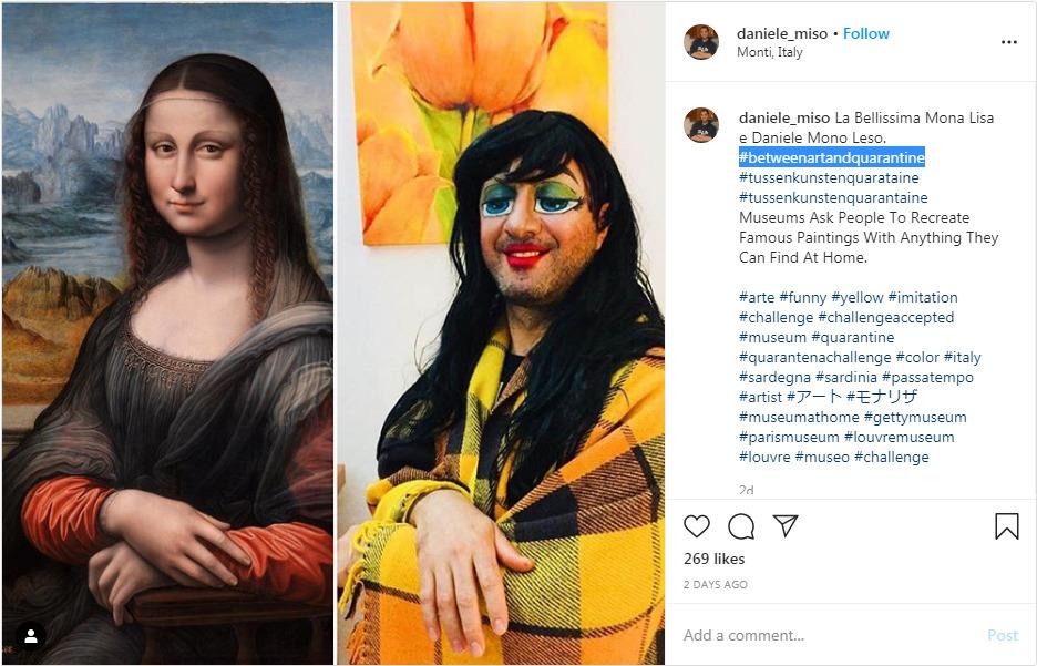 #ArtQuarantine #imitation Mona Lisa challenge