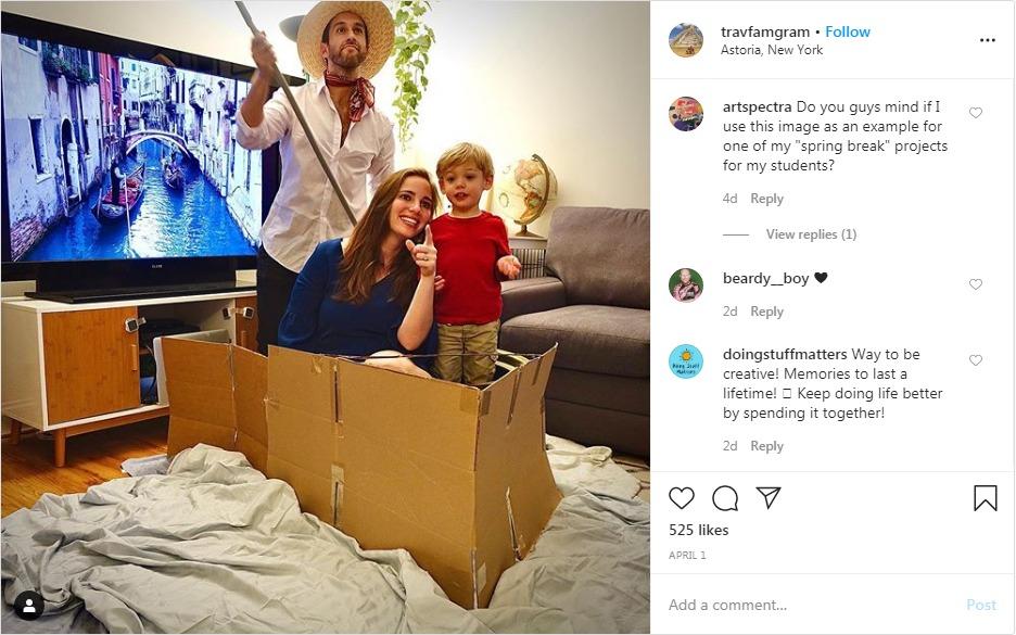 Cardboard box is a perfect gondola