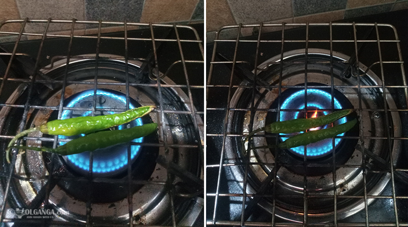 Frying chili