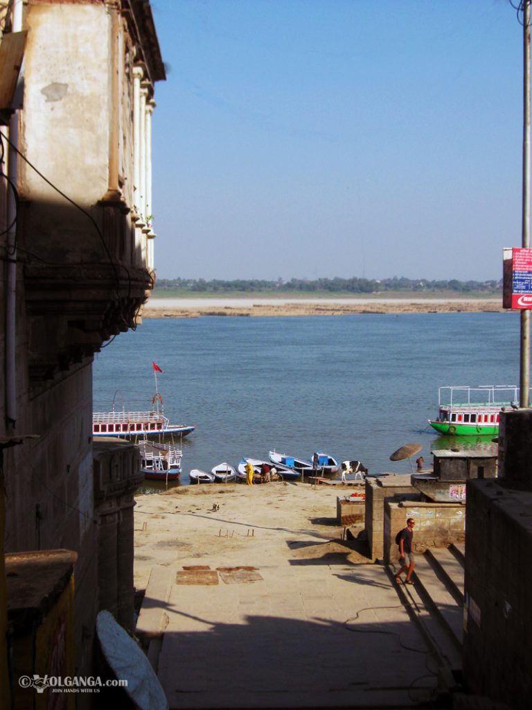 View on Ganga from the lane